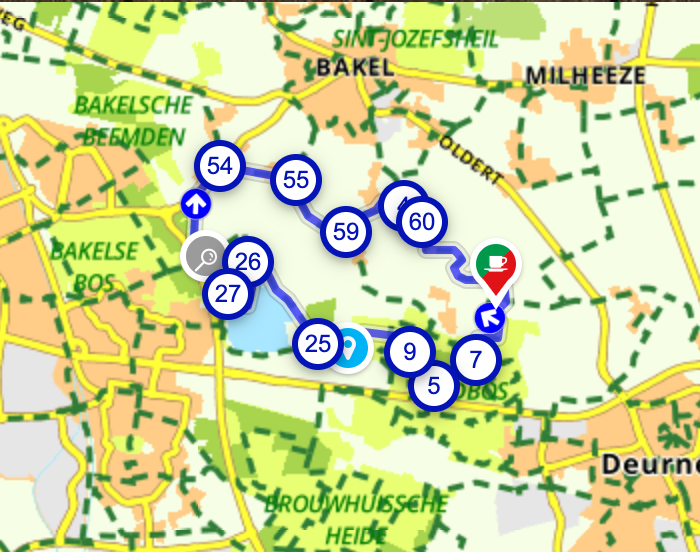 Wandelen door het buitengebied van Deurne